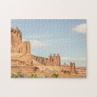 Three Gossips and Sheep Rock - Arches Jigsaw Puzzle