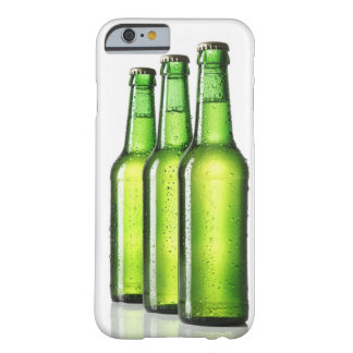 Three green bottles of beer on white background, barely there iPhone 6 case