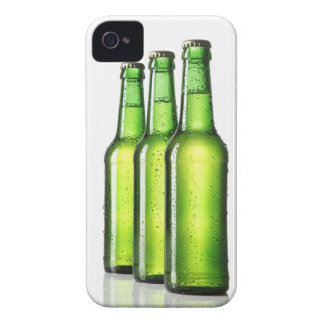 Three green bottles of beer on white background, Case-Mate iPhone 4 cases