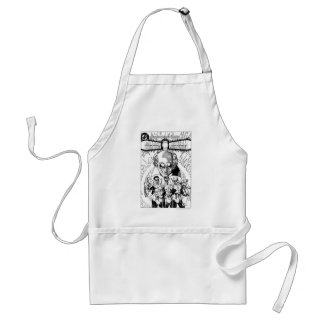 Three Green Lanterns Comic Cover, Black and White Standard Apron