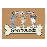 Three Greyhounds Greeting Cards