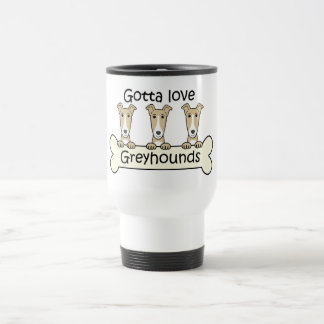 Three Greyhounds Travel Mug