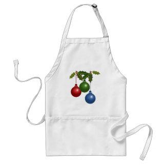 Three Hanging Christmas Balls Standard Apron