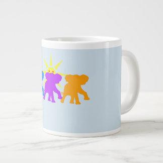 Three Happy elephants Large Coffee Mug