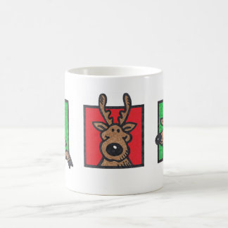 Three Happy Reindeer Basic White Mug
