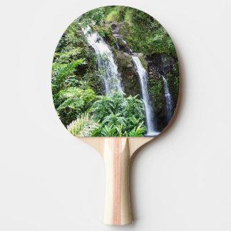 Three Hawaiian Waterfalls Ping Pong Paddle