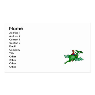 Three-Headed Dragon with Rider Business Card Templates