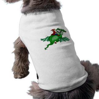 Three-Headed Dragon with Rider Pet T Shirt