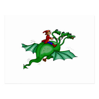 Three-Headed Dragon with Rider Post Cards