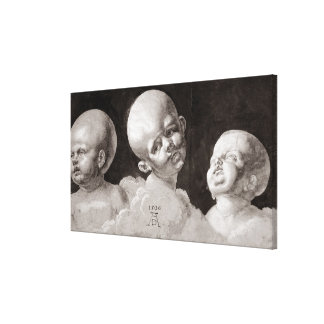 Three Heads of Children, 1506 Canvas Print