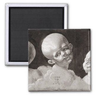 Three Heads of Children, 1506 Square Magnet