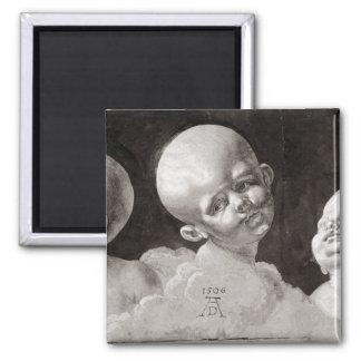 Three Heads of Children, 1506 Square Magnet