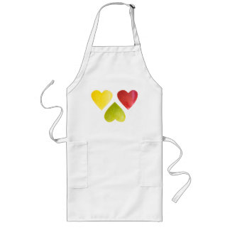 Three hearts long apron