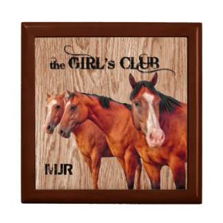Three Horses Girls's Club Monogrammed Western Gift Box
