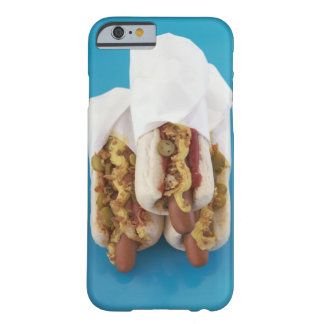 Three hot dogs in buns barely there iPhone 6 case