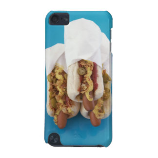 Three hot dogs in buns iPod touch 5G case