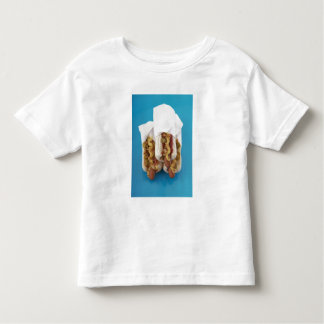 Three hot dogs in buns toddler T-Shirt
