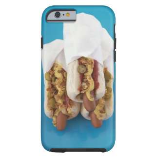 Three hot dogs in buns tough iPhone 6 case