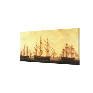 Three Hudson Bay ships in the Thames Canvas Print