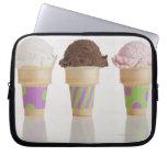 Three ice cream cones laptop sleeve
