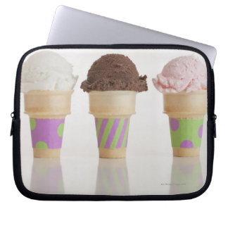 Three ice cream cones laptop sleeve