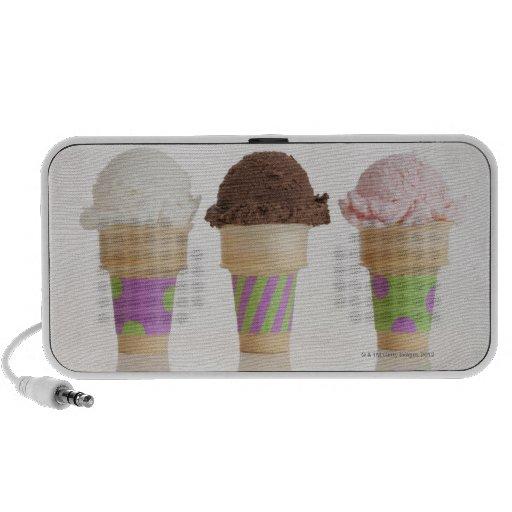Three ice cream cones travelling speaker