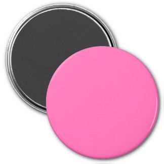 Three Inch Round Fridge Magnet: Hot Pink. 7.5 Cm Round Magnet
