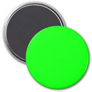 Three Inch Round Fridge Magnet: Lime.