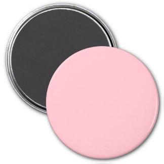 Three Inch Round Fridge Magnet: Pink.