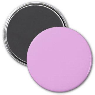 Three Inch Round Fridge Magnet: Plum. 7.5 Cm Round Magnet