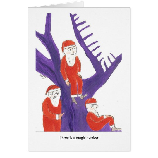 Three is a magic number for Santa Card