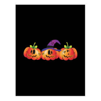 Three Jack O' Lanterns Postcard