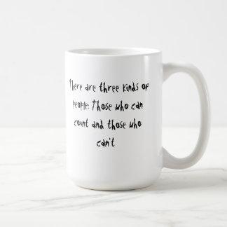 three kinds of people mug