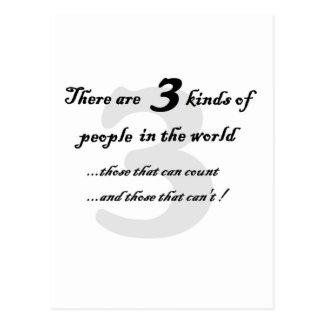 three kinds of people postcard