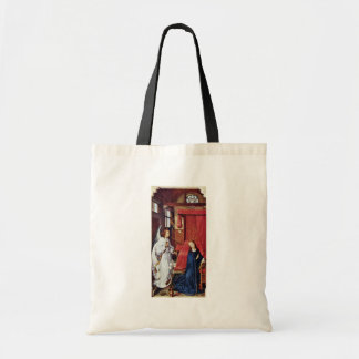 Three King Altar Left Wing: The Annunciation Tote Bags