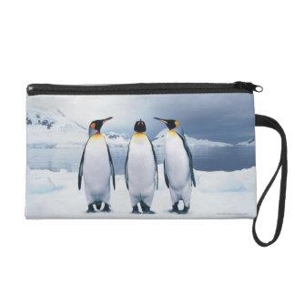 Three King Penguins Wristlet Purse