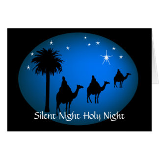 Three Kings Bethlehem  Star Christian Christmas Greeting Card