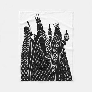 Three Kings Christmas Fleece Blanket