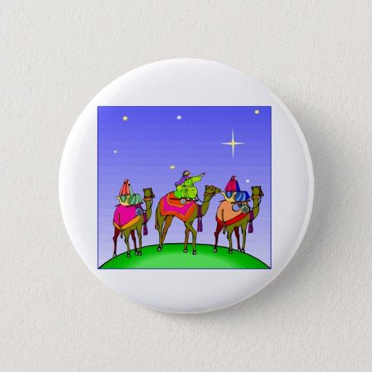 Three Kings Follow Star 6 Cm Round Badge