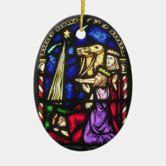 Three Kings Following the Star Ceramic Oval Decoration
