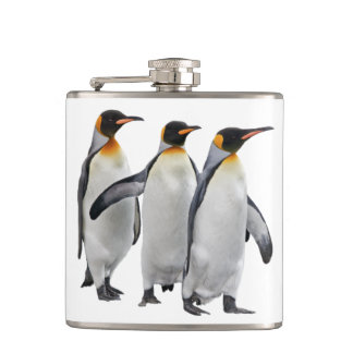 Three Kings Hip Flask (Choose Your Colour)