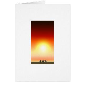 Three Kings Sunset 6 Greeting Card