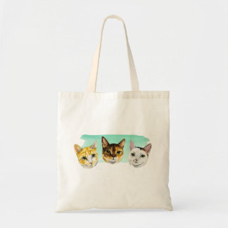 Three Kitties Watercolor Painting