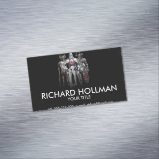 Three knights magnetic business cards