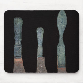 Three Knives from Pompeii, Roman, c.100 BC-79 AD Mouse Mat