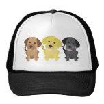 Three Labrador Retrievers Mesh Hats