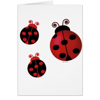 Three Ladybugs Card