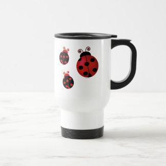 Three Ladybugs Coffee Mug