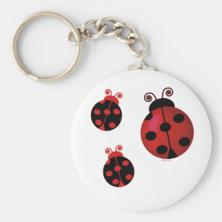 Three Ladybugs Key Ring
