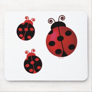 Three Ladybugs Mouse Mat